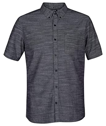 98f8720a60c72f Amazon.com: Hurley Men's One & Only Textured Short Sleeve Button Up ...