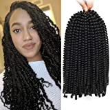 12 inch Spring Twist Crochet Braids Hair for Butterfly Locs Bomb Twist Crochet Hair Beyond Beauty Ombre Colors Synthetic…