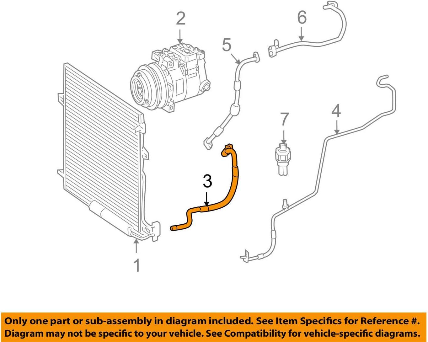 Mercedes-Benz 164 830 00 15 A//C Refrigerant Discharge Hose