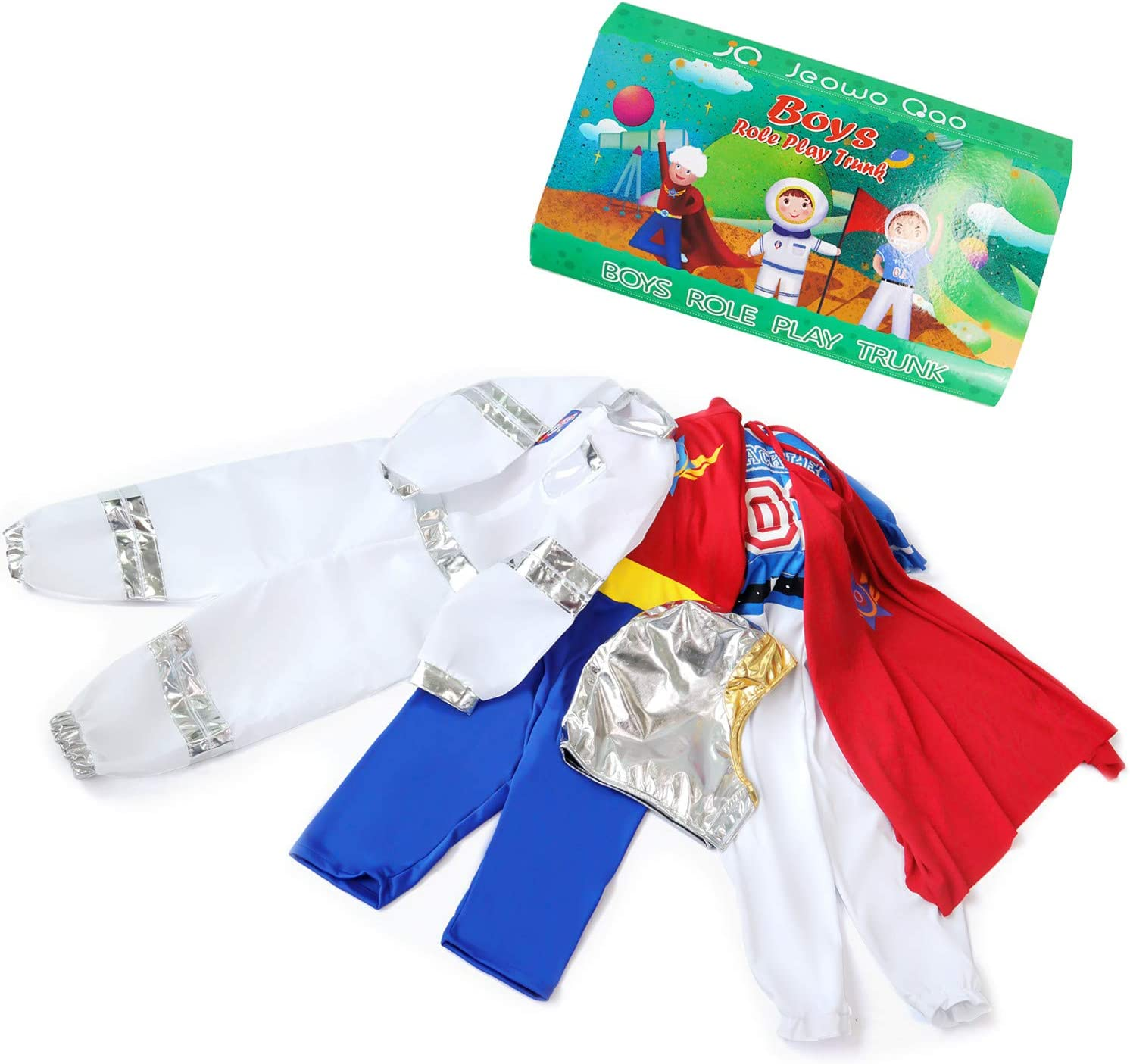 Fire Chief Role Play Dress Up Costume /& Hat Children Kids Role Play Set JO