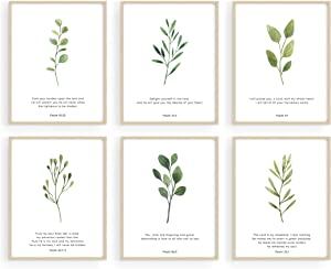 Haus and Hues Bible Verses Wall Decor - Set of 6 Christian Wall Decor Scripture Wall Art Bible Verses Wall Art Bible Verse Wall Decor Scripture Art Wall Decor Christian Posters UNFRAMED (11