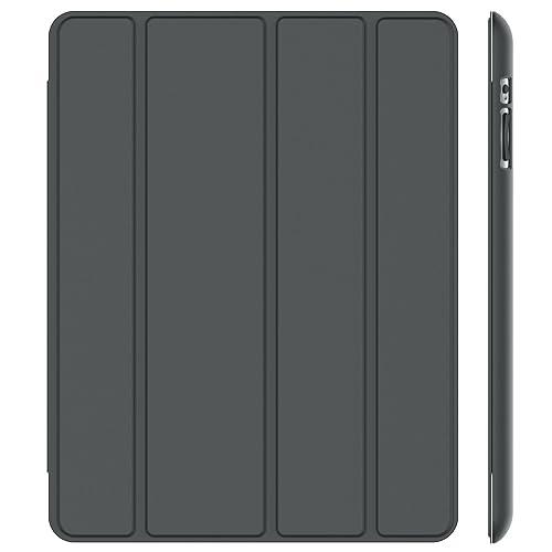 JETech 0215- Funda para iPad 4 iPad 3 iPad 2, Carcasa con Soporte Función, Auto-Sueño / Estela, Gris Oscuro