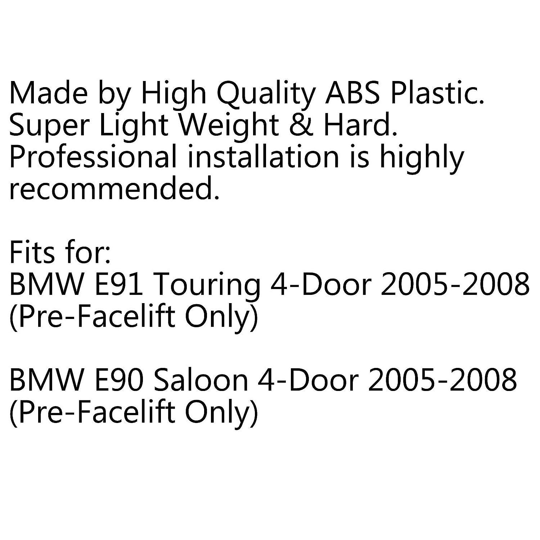 Areyourshop Capote de grille de rein avant pour E90 E91 2005-2008 320i-335i Aspect carbone