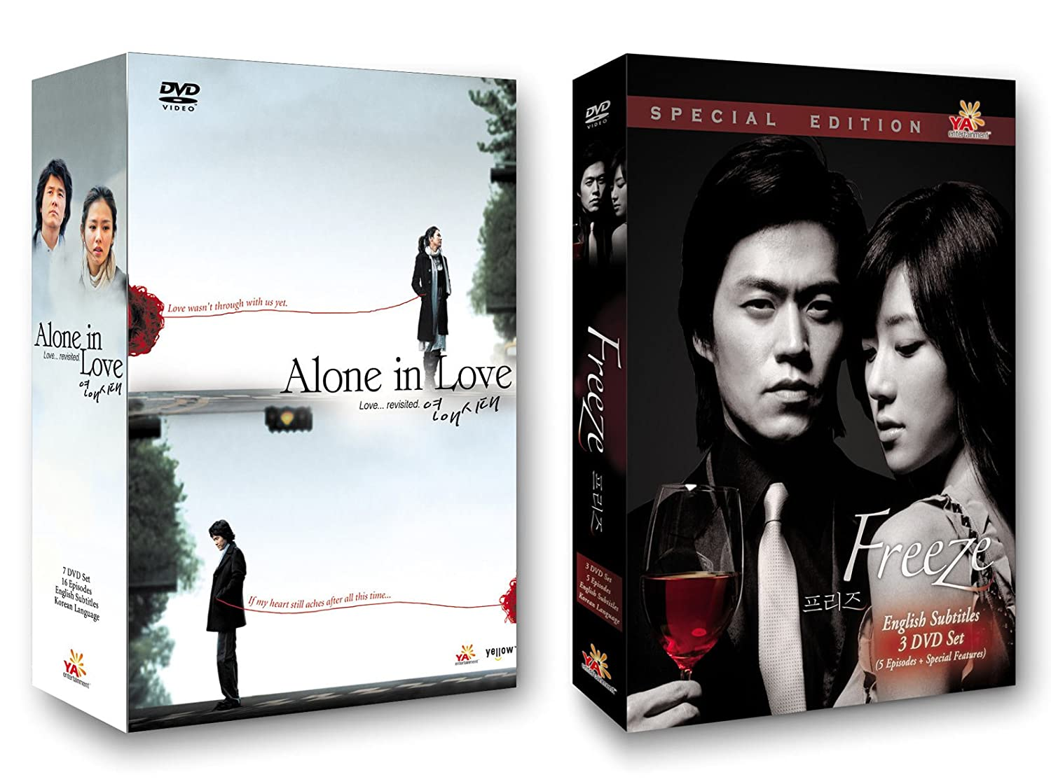 Amazon com korean tv drama 2 pack ya entertainment alone in love freeze alone in love kam woo sung alone in love son ye jin freeze lee seo jin
