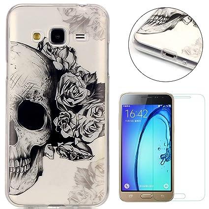 Compatible For Samsung Galaxy J3 2016/2015 Silicone Gel Funda Silicona Carcasa Suave TPU Protectora Cubiertas Cubierta De La Caja De Silicona ...