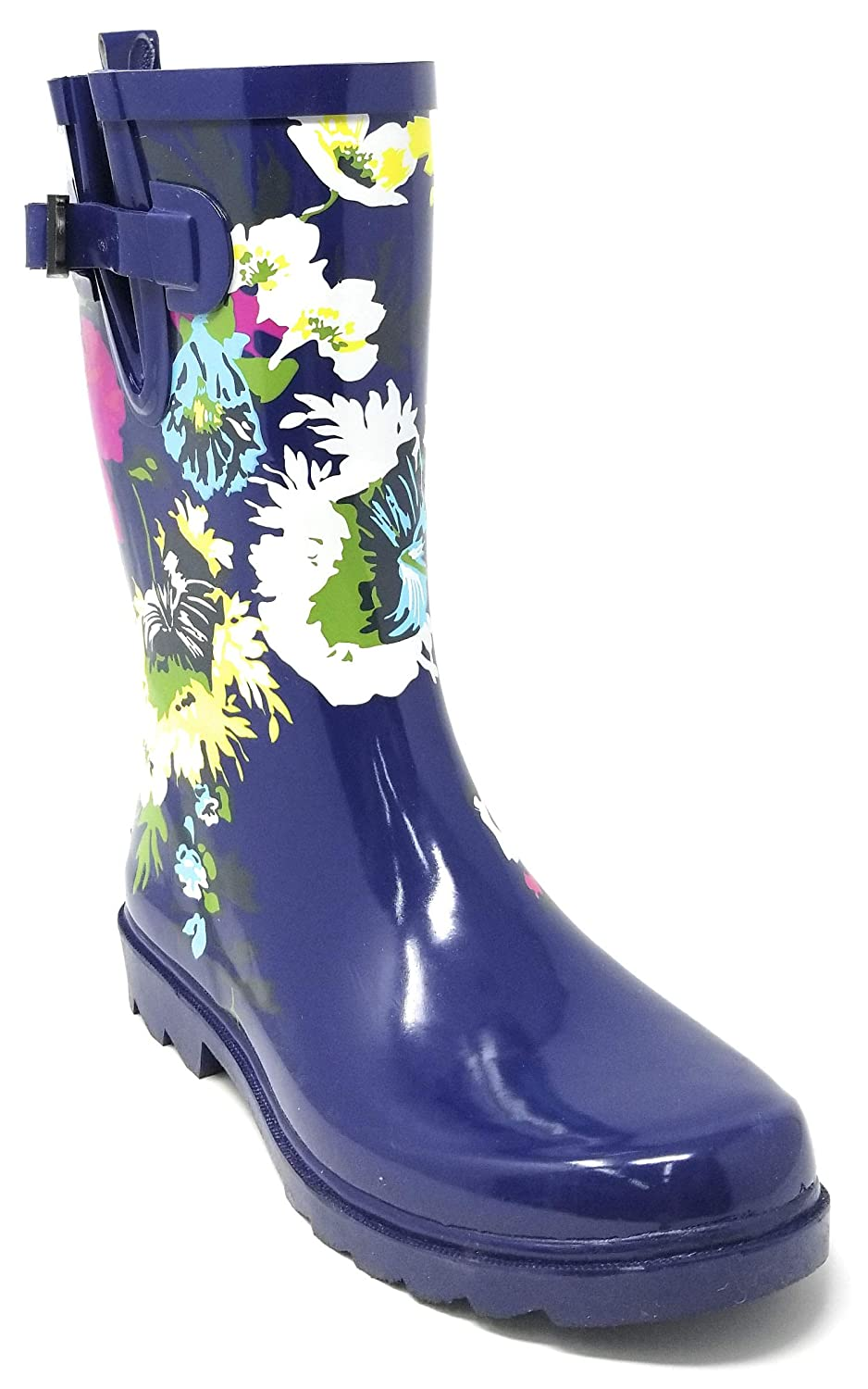 Forever Young Women Rubber Rain Boots Mid-Calf 11