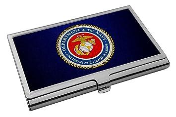 Amazon business card holder us marine corps usmc seal business card holder us marine corps usmc seal colourmoves Choice Image