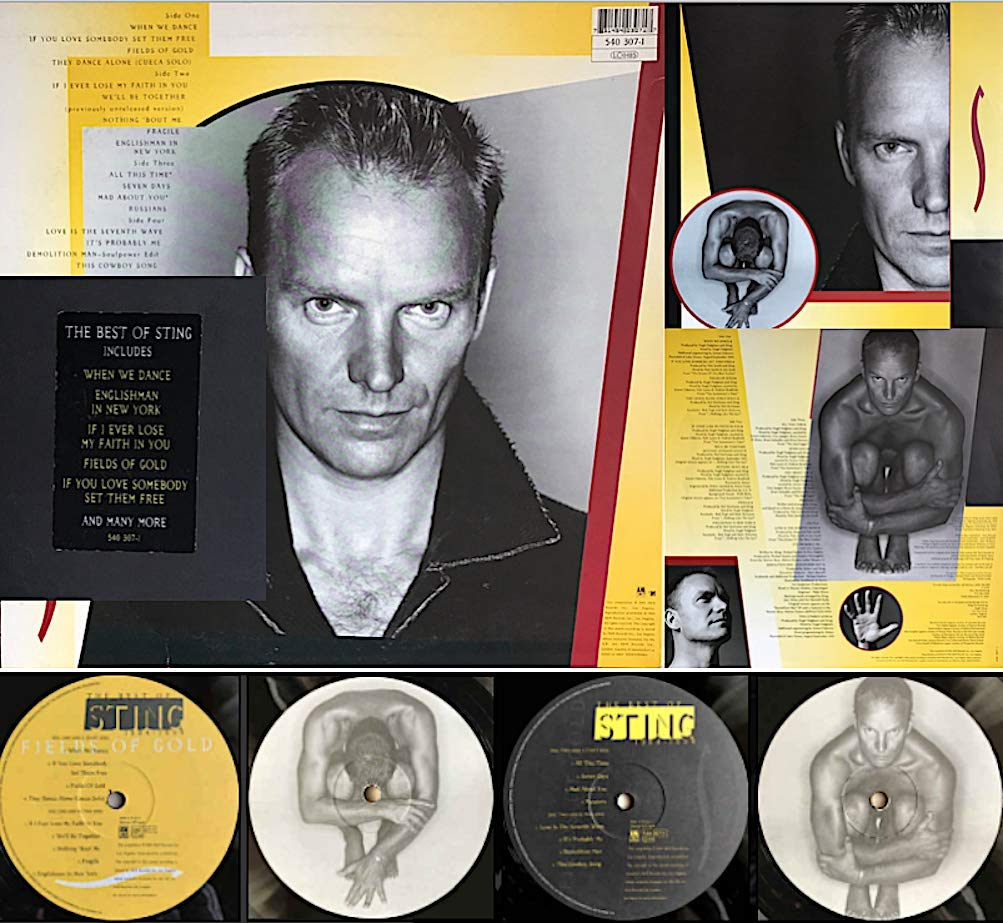 Sting Fields Of Gold The Best Of Sting Rare Lp Vinyl Amazon Com Music
