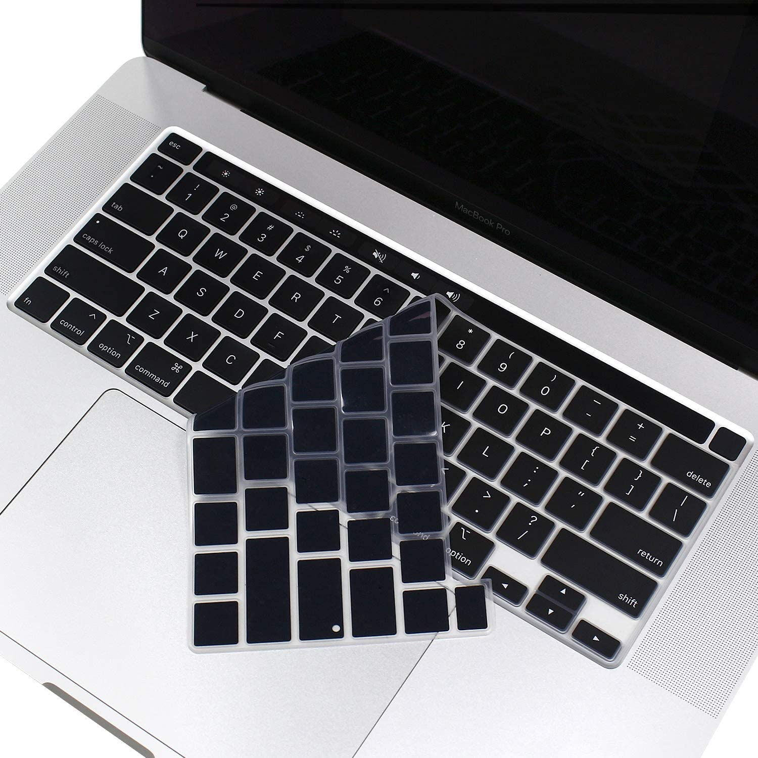 Ultra Thin Silicone Keyboard Protective Skin for MacBook Pro 16-Inch with Touch Bar//Touch ID A2141 2019 Black US Layout Keyboard ProElife Premium Keyboard Cover for New MacBook Pro 16 Inch 2019