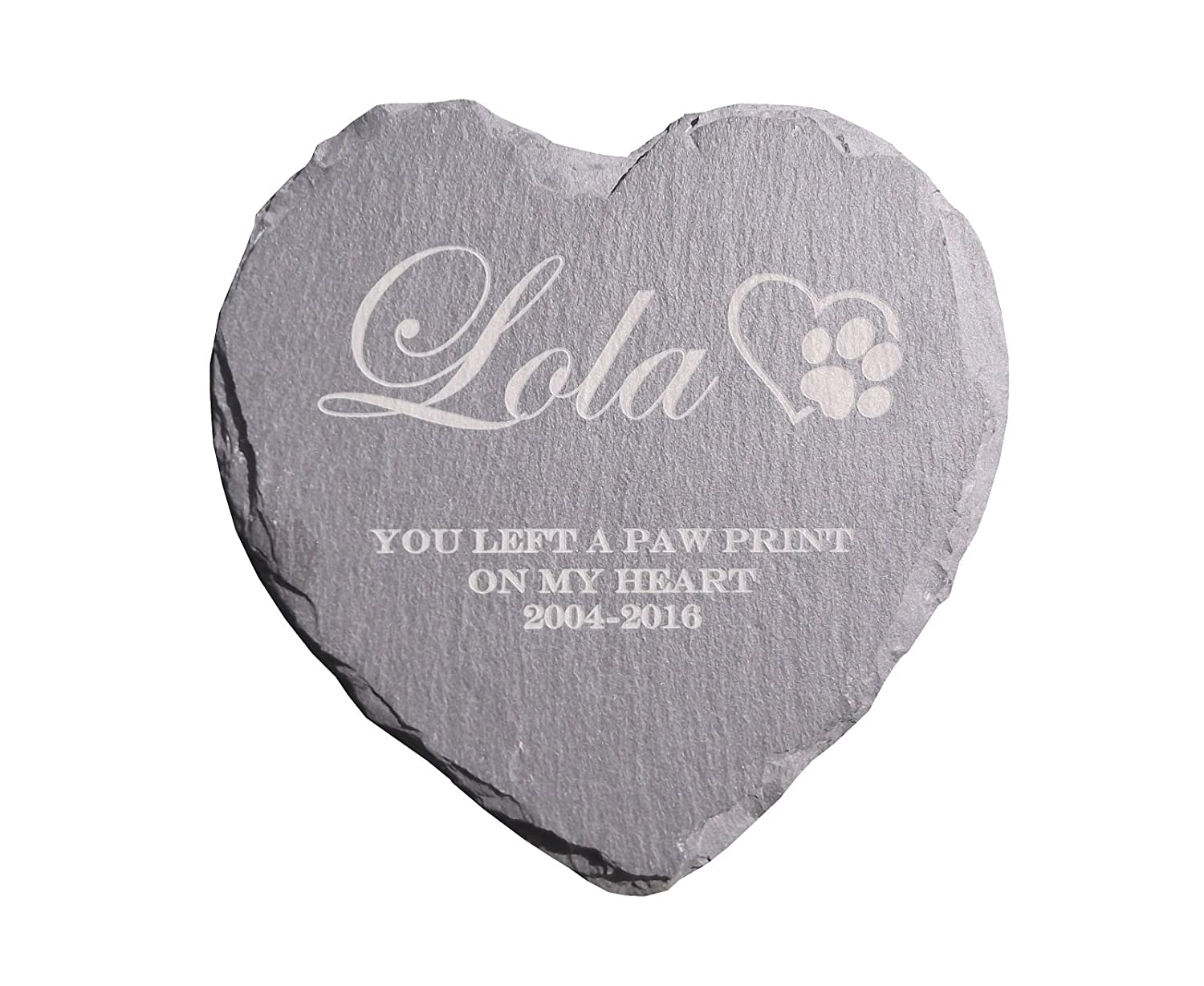 Personalised For Your Loved One  Rustic Slate Heart Memorial Grave Marker Plaque