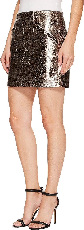 49ecd9f51b6 Blank NYC Women s Metallic Skirt in Mercury Mercury Skirt at Amazon Women s  Clothing store