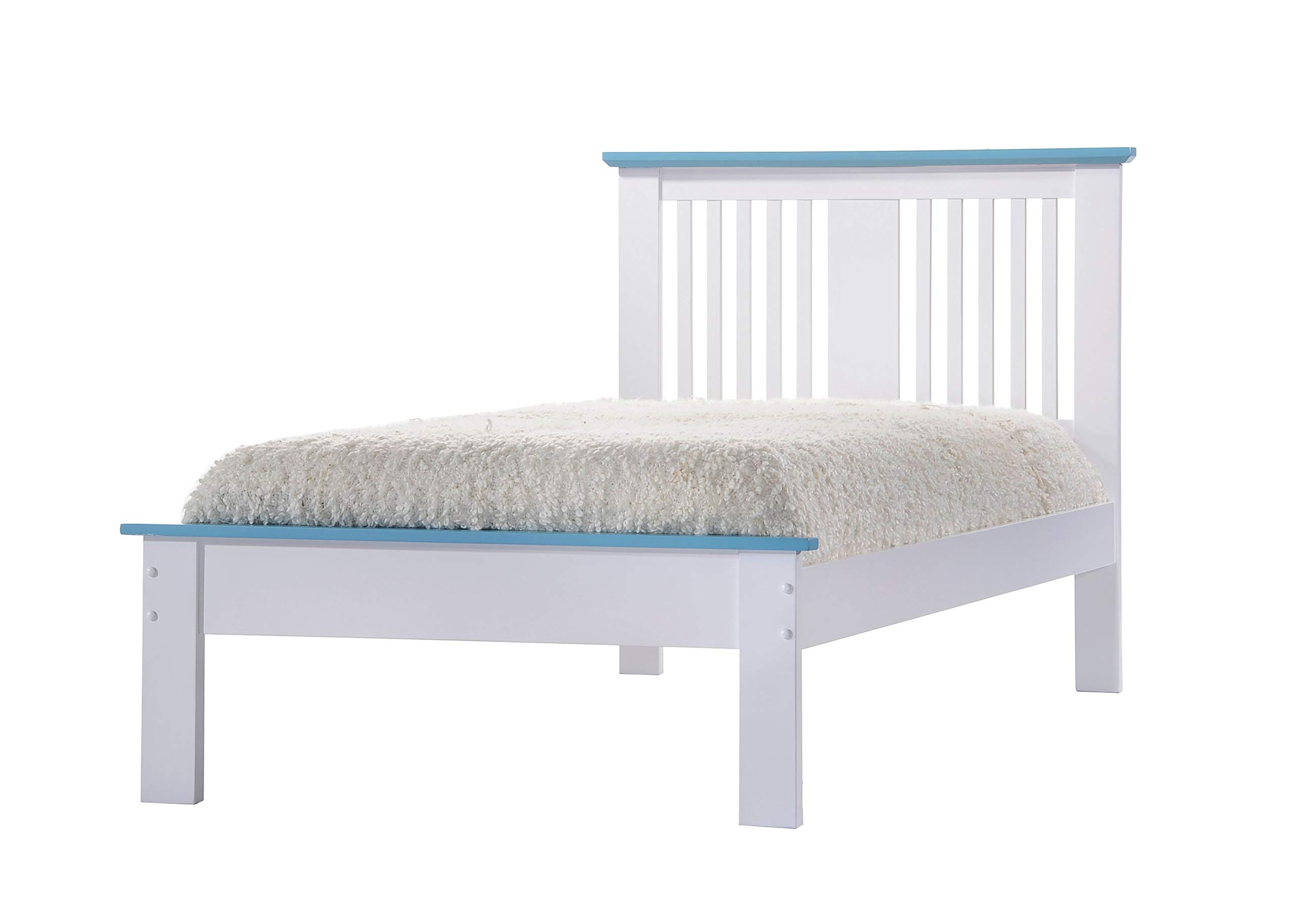 Acme Furniture 25466T-R Brooklet Bed with Rail (Set of 2), Twin, White & Blue