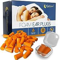 Tapones oidos dormir SleepDreamz® – 20 pares de tapones oidos espuma que bloquean los ruidos – Protección contra los…