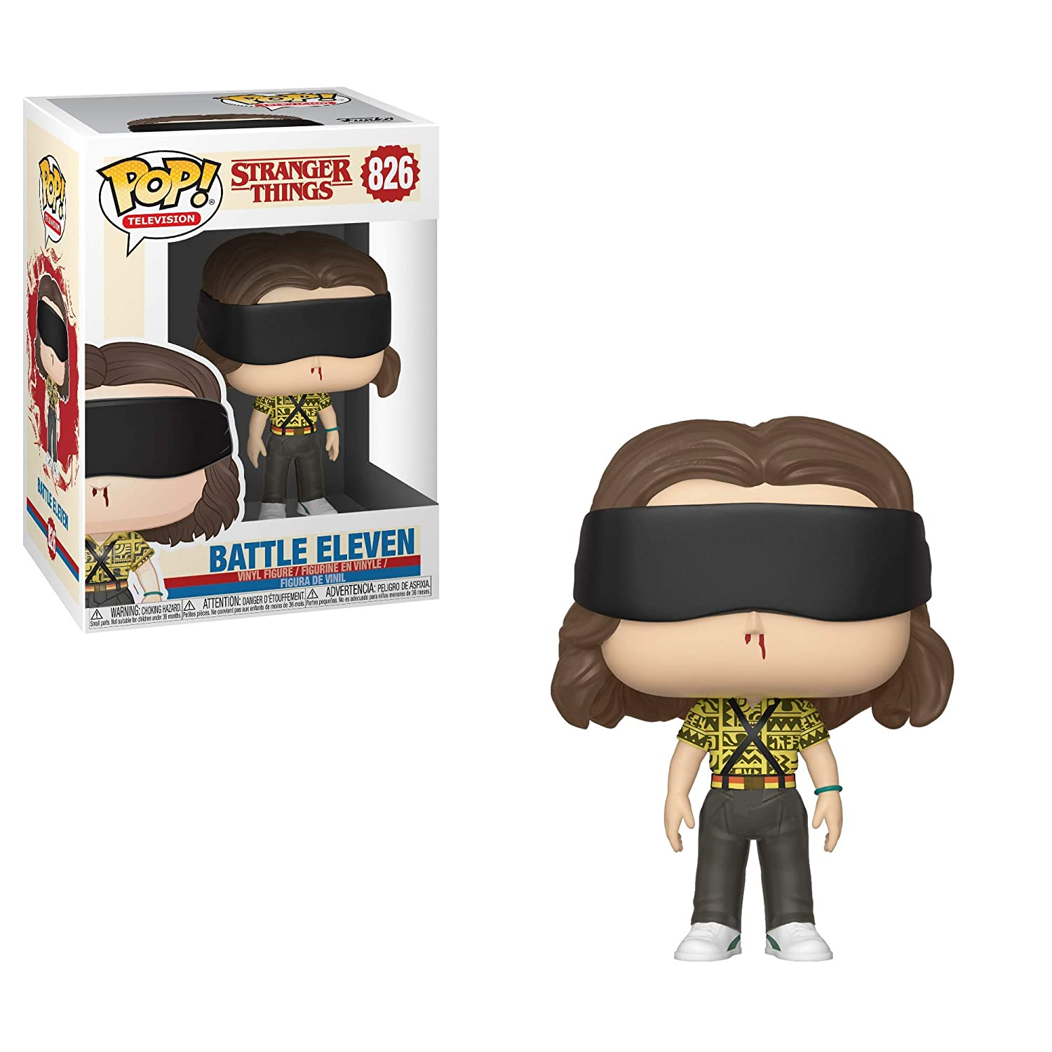 Funko- Pop Vinilo: Stranger Things: Battle Eleven Figura Coleccionable, Multicolor, Talla única (39367)