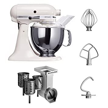 Amazon.de: Kitchenaid KSM150PSEWH + MVSA + EMVSC Kitchenaid ...