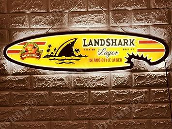 Amazon.com: desung revolucionario Landshark cerveza lager ...