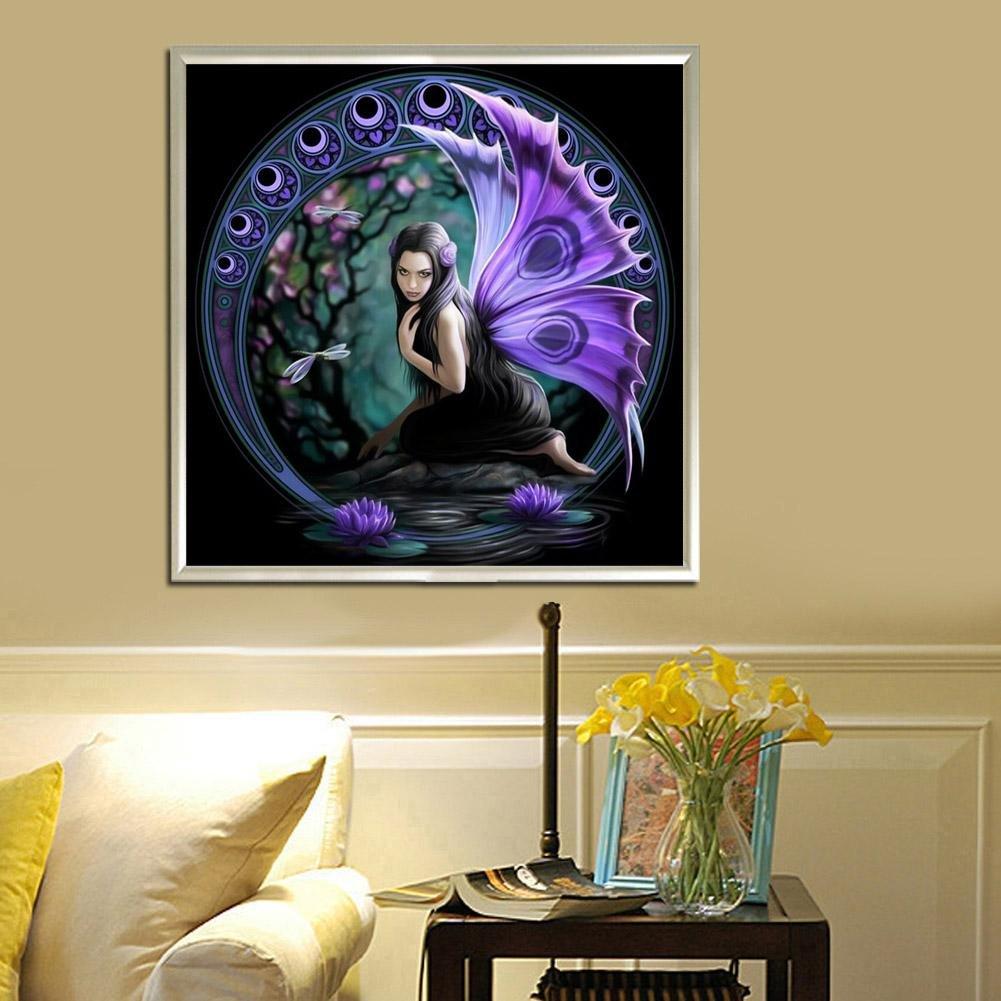 Amazon.com: Iainstars Diamond Painting Butterfly Fairy 5D DIY ...