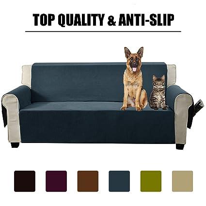 Aidear Anti Slip Sofa Slipcovers Jacquard Fabric Pet Dog Couch Covers  Protectors (Sofa,