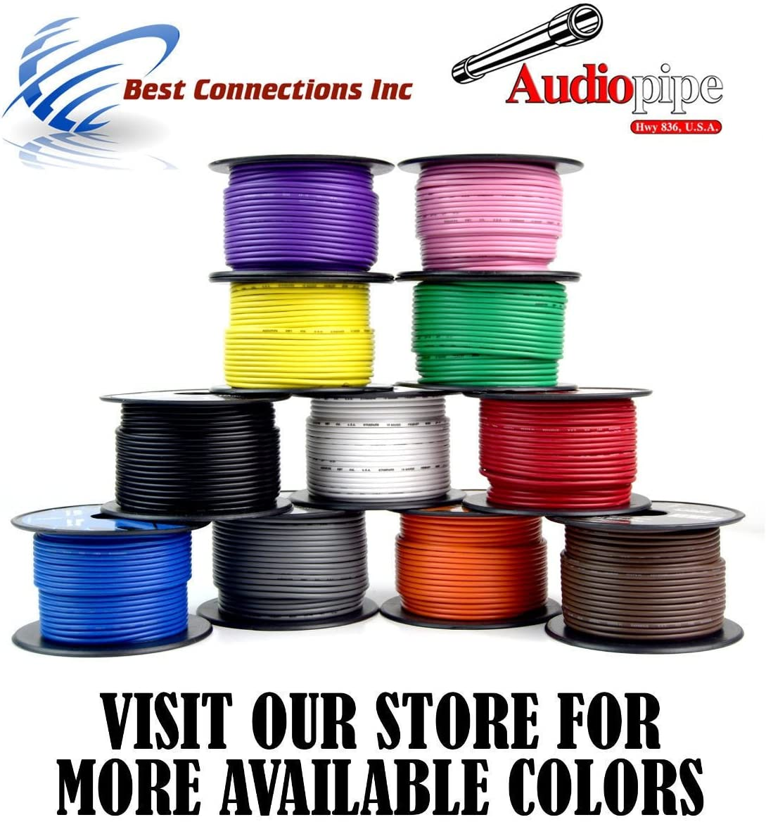 Brown 18 gauge 100 Feet Power Cable Car Audio Primary Remote Wire Copper mix