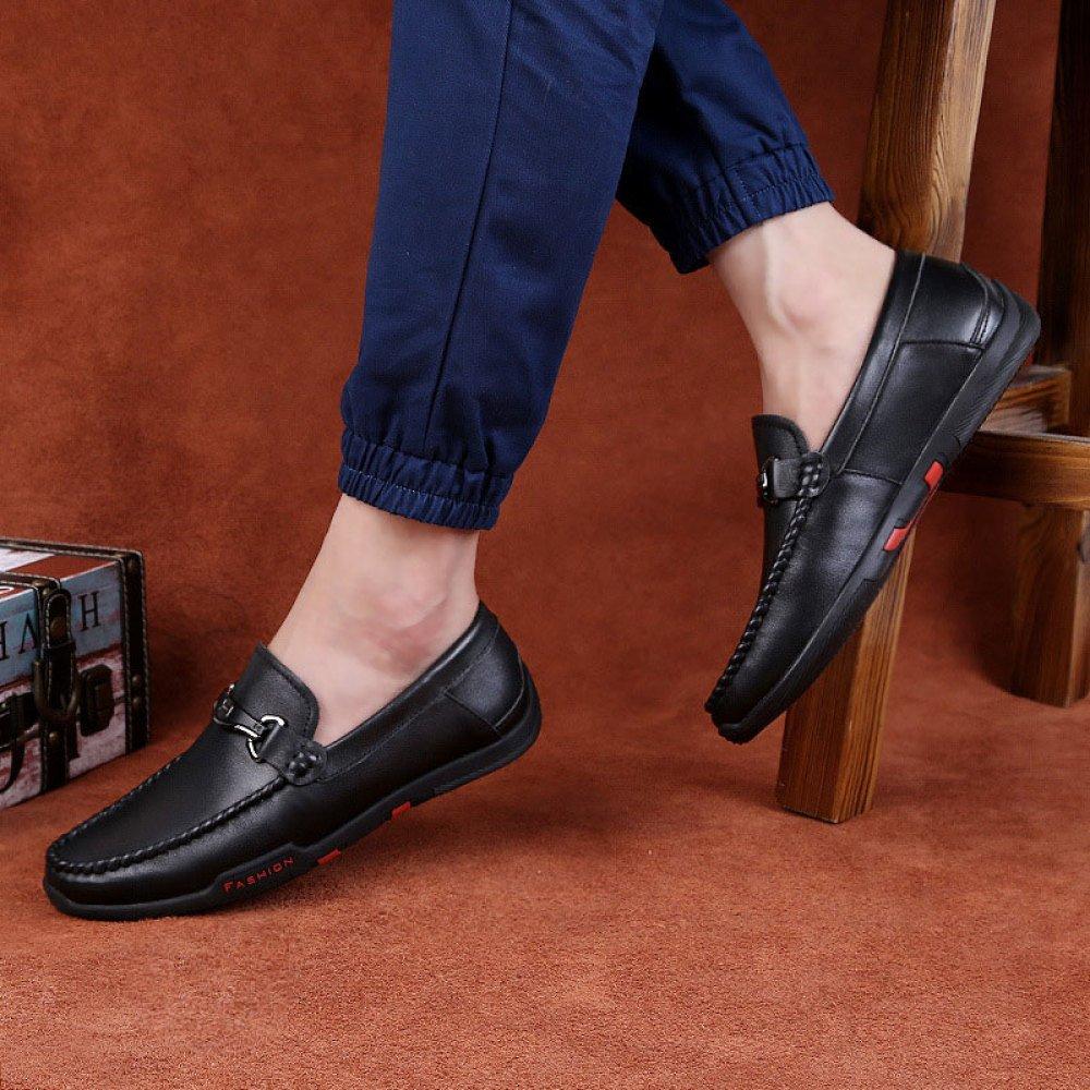 ZLLNSPX  Herren Wear Wear Herren Geschäft Schuhe Casual Lederschuhe Breathable Peas Schuhe Fashion schwarz 27b4bc