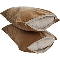 TCC Terry Cotton Waterproof Pillow Protector (17x27-inch, White) - Set of 2