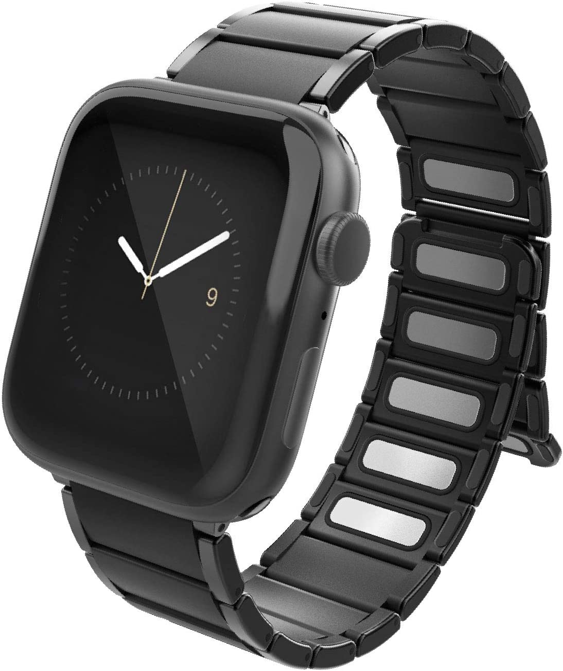 X-Doria Classic Band for Apple Watch Replaceable Smartwatch Band Compatible with Apple Watch 42mm and 44mm Apple Watch - for Apple Watch Series 1,2,3,4 and 5 (Black)
