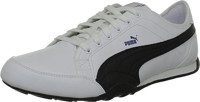 Puma New Merit fs4 - Zapatillas de Deporte de material sintético Hombre, Blanco - Blanc (02White/Black/Blue), 39: Amazon.es: Zapatos y complementos