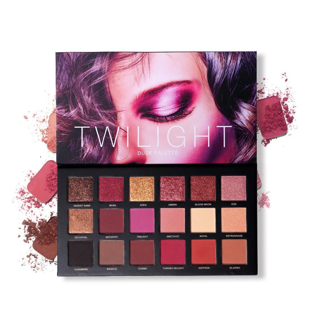xshuai Eyeshadow Palette Glitter Matte profesional 18 colores ...