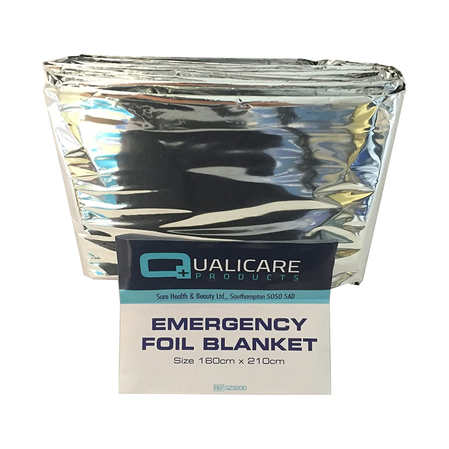 6 PACK OF QUALICARE THERMAL EMERGENCY FOIL SPACE FIRST AID SURVIVAL SILVER FOIL BLANKETS Sure Thermal