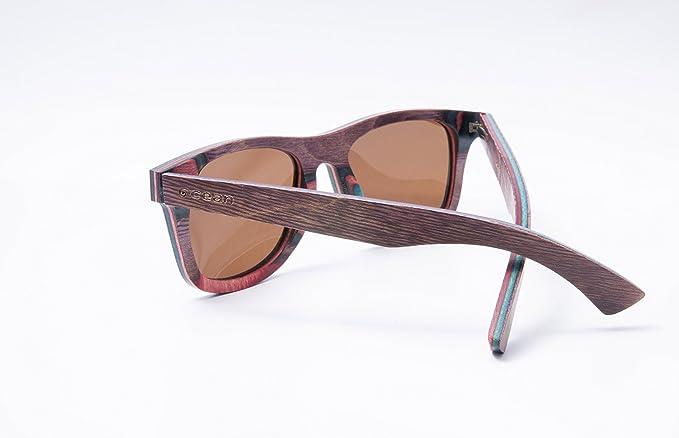 Ocean Sunglasses wood Venice beach - lunettes de soleil en Bois - Monture : Marron - Verres : Marron (54001.3) KHpF8