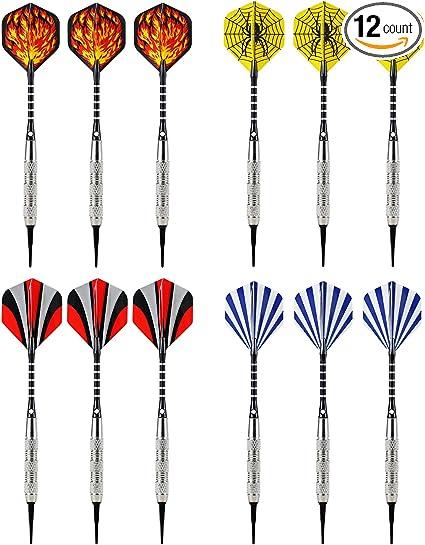 Dart Soft Tip Points Set Electronic Dartboard Soft Steel Dart w// Dart Flights