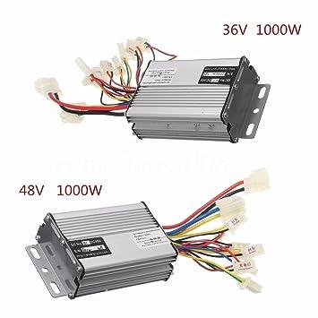 Amazon.com: 1000 W 36 V/48 V escobilla de motor de control ...