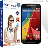 Cellbell Premium Tempered Glass Screen Protector for Motorola Moto G2 2nd Generation XT1068 (2.5D Curved Edges)(Clear)(Comes with Warranty)Complimentary Prep cloth/Bronze Edition