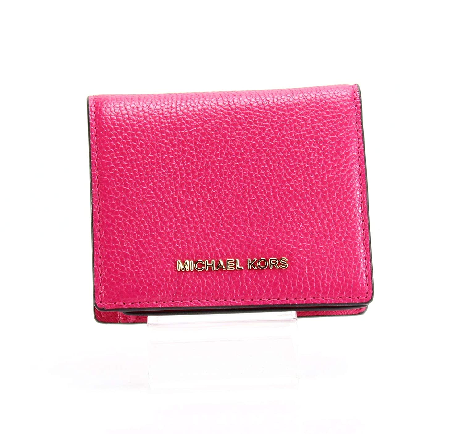 b430d620b45883 Amazon.com: MICHAEL Michael Kors Money Pieces Flap Card Holder Ultra Pink:  Clothing