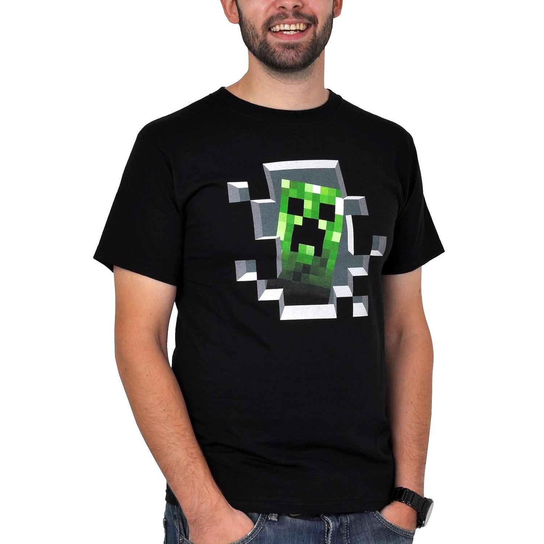 Creeper allInterno Nera XXL Minecraft Gamer t-Shirt Girocollo