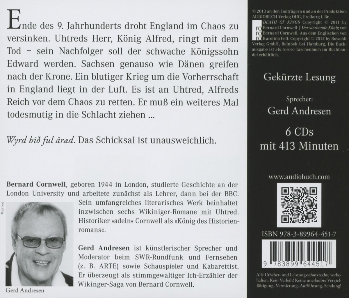 Der sterbende König - Bernard Cornwell (Autor), Gerd Andresen ...