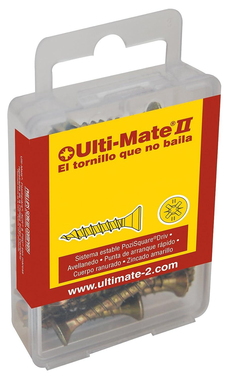 Ulti-Mate II S50020L1 Caja grande con tornillos de alto rendimiento para madera acabado BICROMATADO y punta PSD de 25mm incluida de 5,0 x 20 mm Set de 40 Piezas
