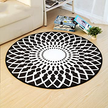 Amazon Com Area Rugs Nordic Black And White Living Room Bedroom