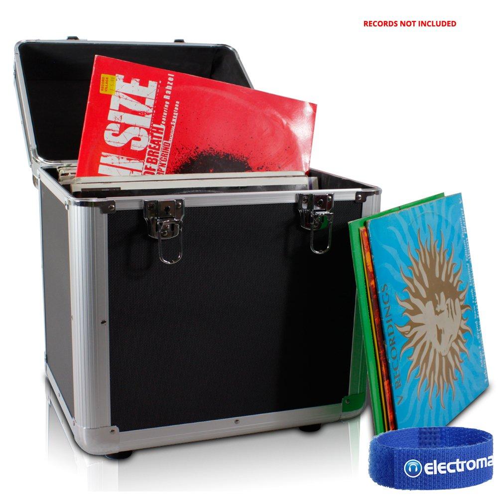 "PD LP 100 x 12"" Vinyl Record Box Storage Flight DJ Case Black Tronios BV"