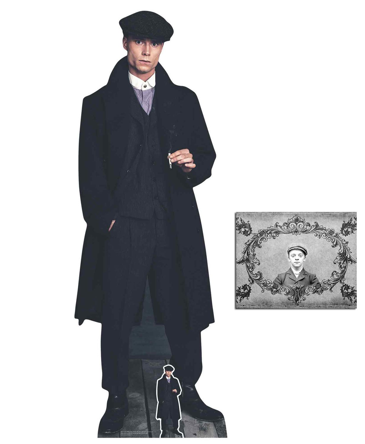 BundleZ-4-FanZ Peaky Blinder Style British Gangster Smoking Lifesize and Mini Cardboard Cutout Fan Pack, 185cm x 66cm Includes 8x10 Star Photo