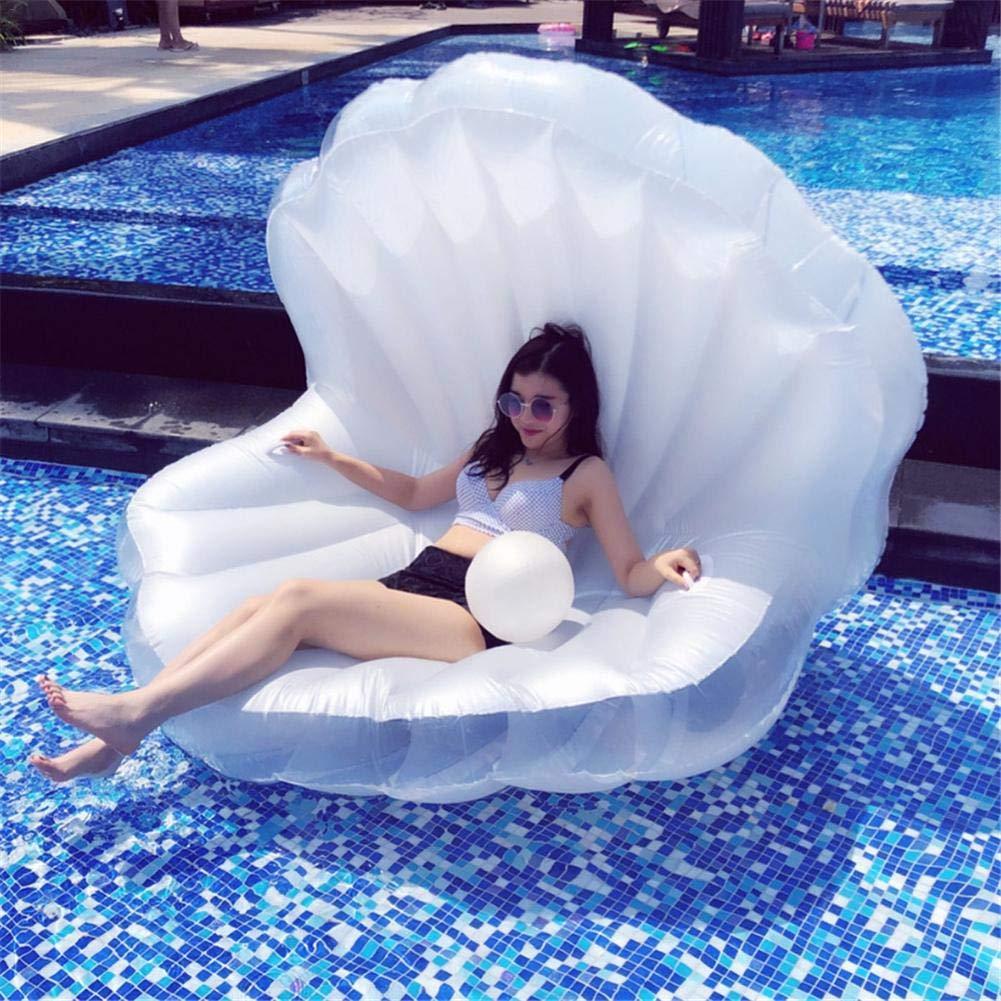 Sue Supply Canapé Flottant de Forme de Coquille de l'eau de lit d'air Flottant Coussin de rangée de flottement de l'eau de lit d'air pour la Piscine de Plage