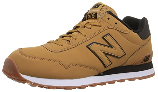 New Balance Men's ML515 Winter Stealth Pack Classic Running Shoe, Wheat/ Black, 8