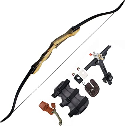 Tongtu Outdoor Tir /à larc Recurve Bow Chasse Takedown Adulte 30 35 40 45lbs Bow 35lbs
