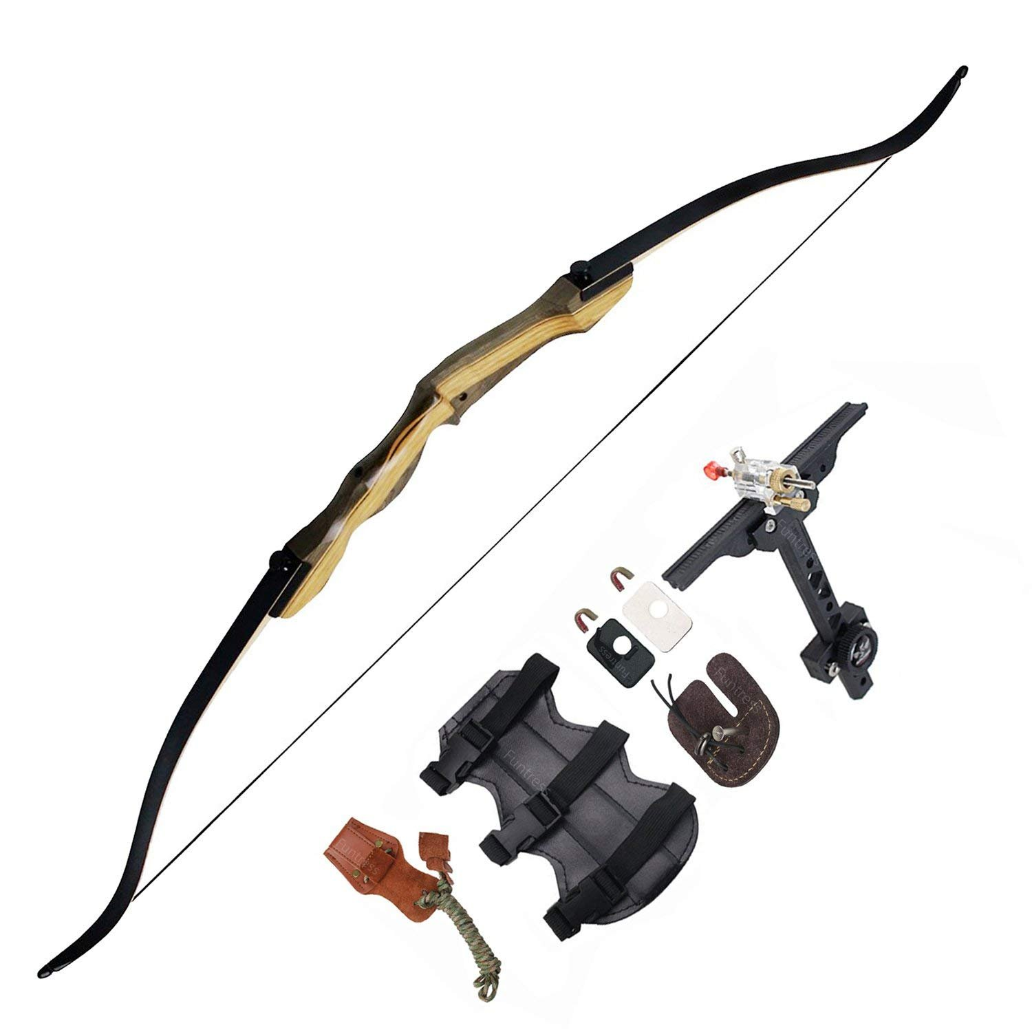 Starter Pack 3 Core Archery Red 70 Jet Recurve Bow Take Down Set Right Handed *