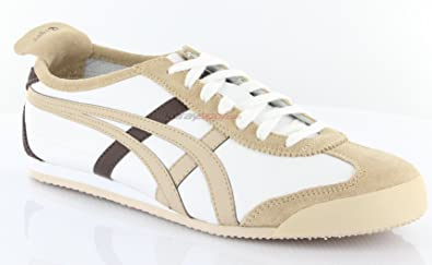 cheap for discount 3c304 cd4b5 Amazon.com: Onitsuka Tiger Mexico 66 White Sand Brown ...