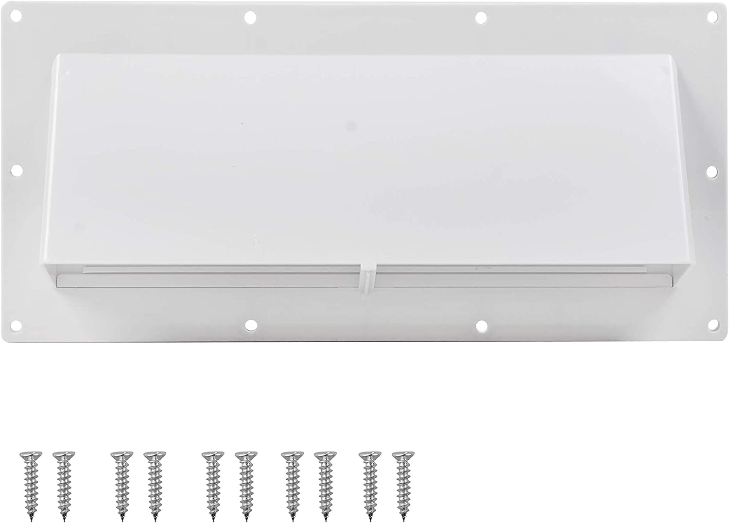 RVGUARD RV Range Hood Exhaust Vent Cover White for Motorhome Trailer (Include 10Pcs Screws)