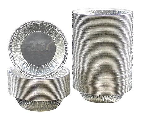 250 moldes desechables redondos de aluminio para hornear huevos y tarta (diámetro de 7 cm