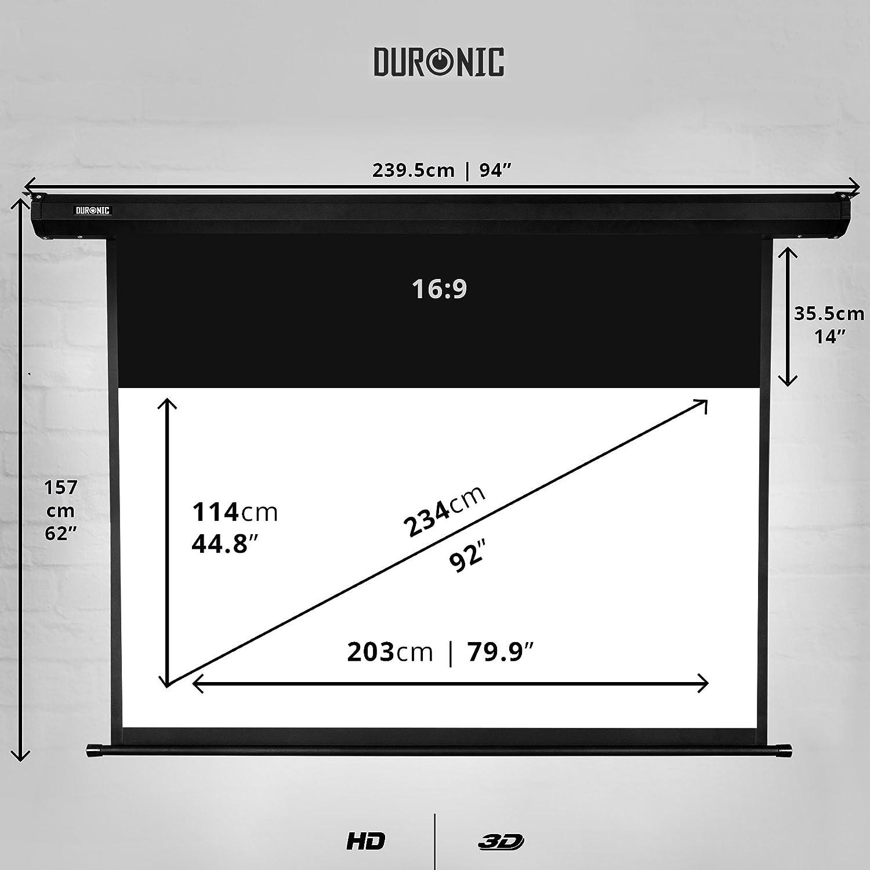 Duronic EPS92 /169 Pantalla de proyección 92