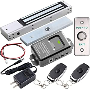 UHPPOTE 2.4GHz WiFi Outswinging Indoor 600lbs Electromagnetic Door Lock Access Control Kit Remote and Smartphone app Controlled