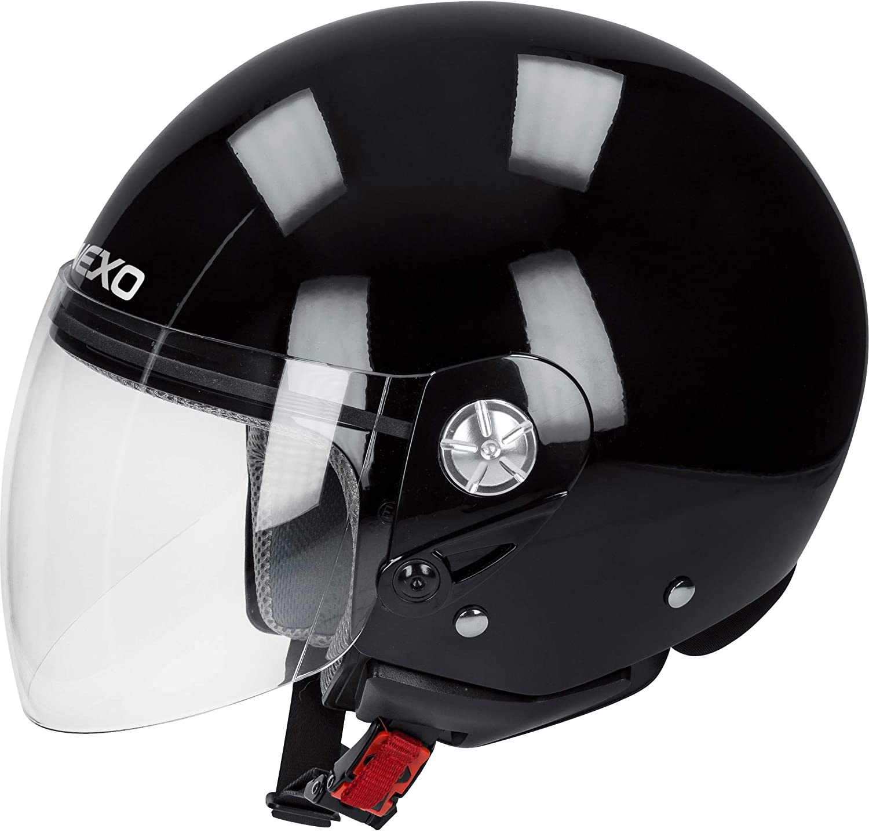 Ganzj/ährig Nexo Jethelm Motorradhelm Helm Motorrad Mopedhelm Demi Jet Helm City Thermoplast Unisex Chopper//Cruiser